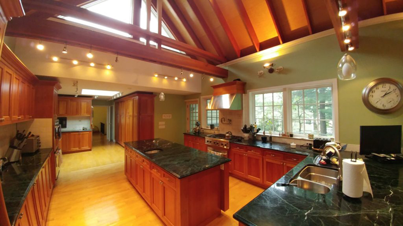 newly remodeled kitchen with green upgrades